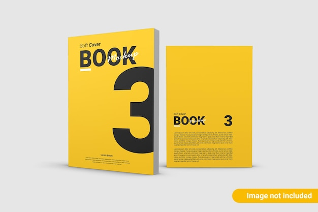 Beautiful book cover mockup isolated