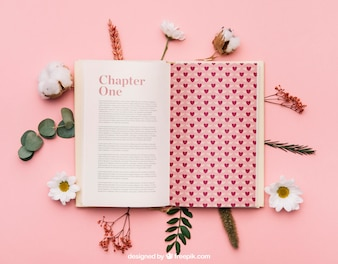 Beautiful book mockup