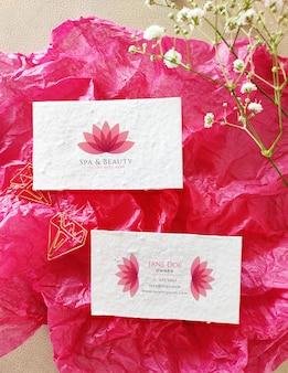 Beautiful business card mockup