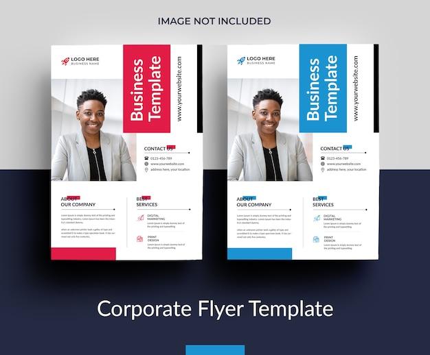 Beautiful business flyer template design