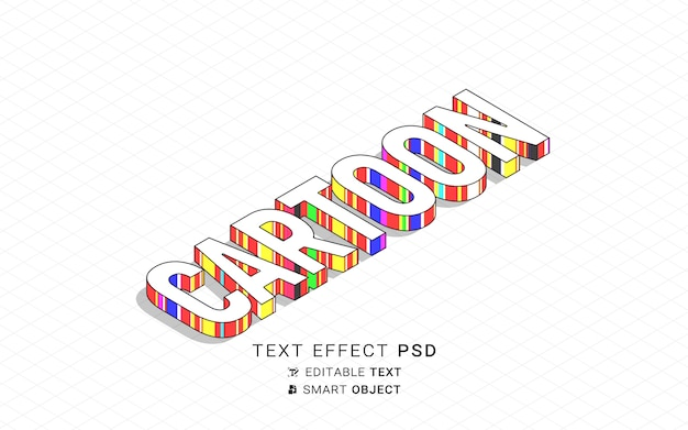 Красивый мультяшный текстовый эффект
