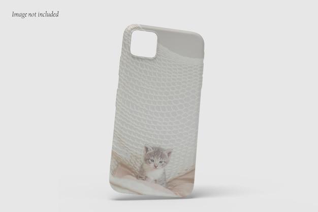 分離された美しいケースの電話のモックアップデザイン