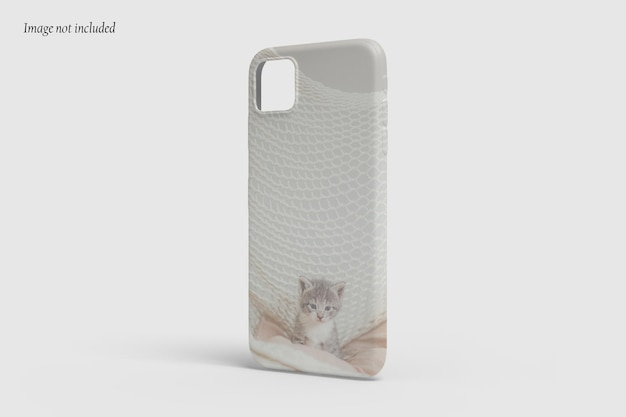 Beautiful case phone mockup design isolated