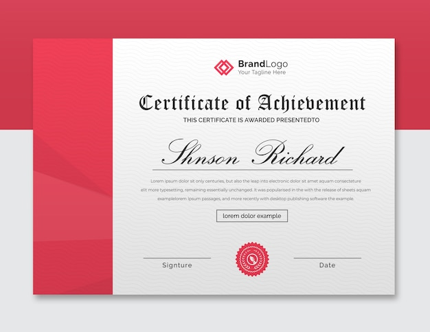 Beautiful certificate template