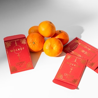Beautiful chinese new year concept mock-up