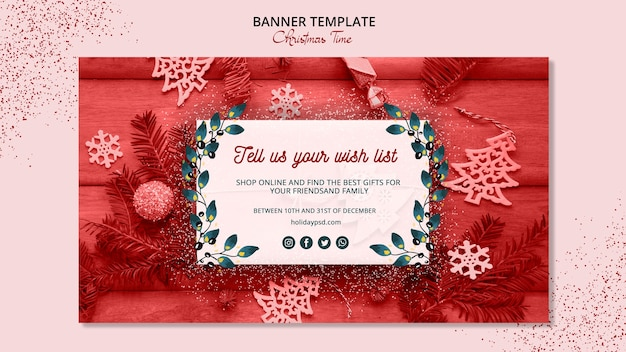 Beautiful christmas banner template concept