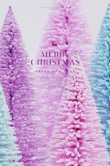 Beautiful christmas and happy new year card