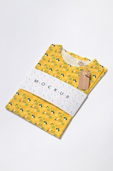 Beautiful colorful shirt concept mock-up