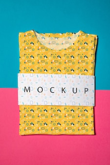 Beautiful colorful shirt concept mock-up