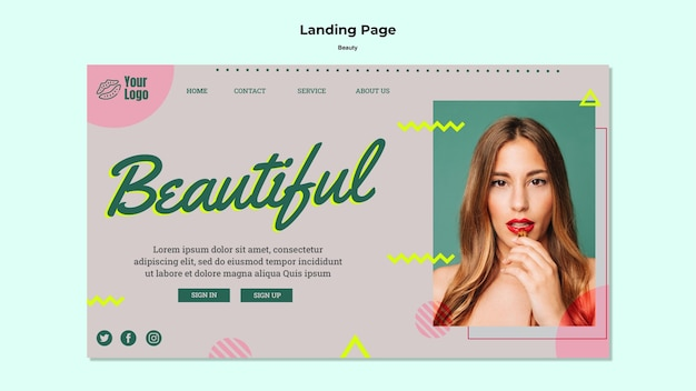 Beautiful concept landing page web template