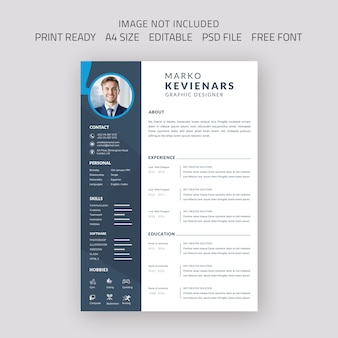 Beautiful curriculum vitae resume template