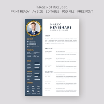 Beautiful cv  resume design template