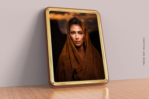 Beautiful decorative photo frame mockup design