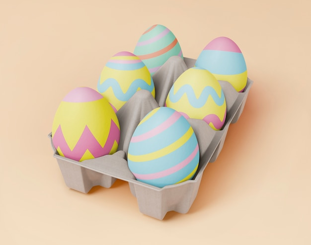 Beautiful easter concept mock-up Free Psd