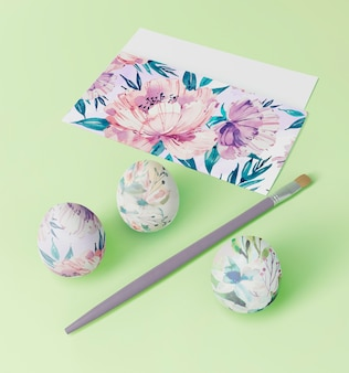 Beautiful easter concept mock-up
