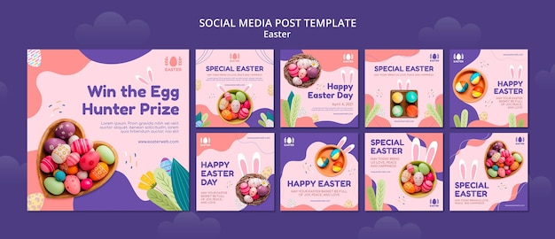 Beautiful easter day event instagram posts