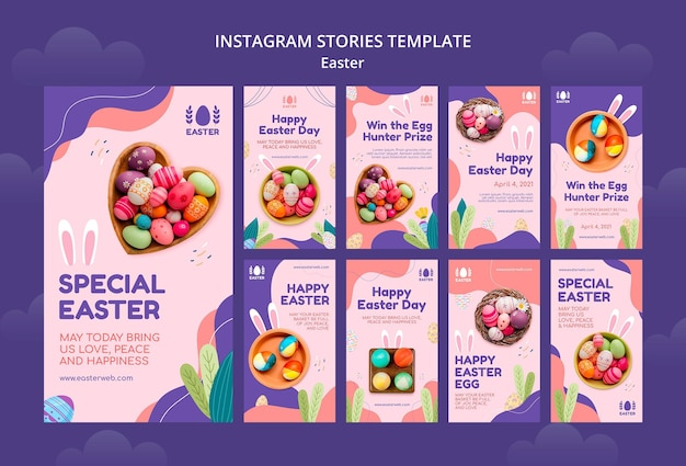 Beautiful easter day event instagram stories