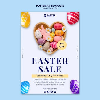 Beautiful easter day event poster Free Psd