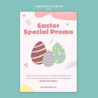 Beautiful easter day event print template