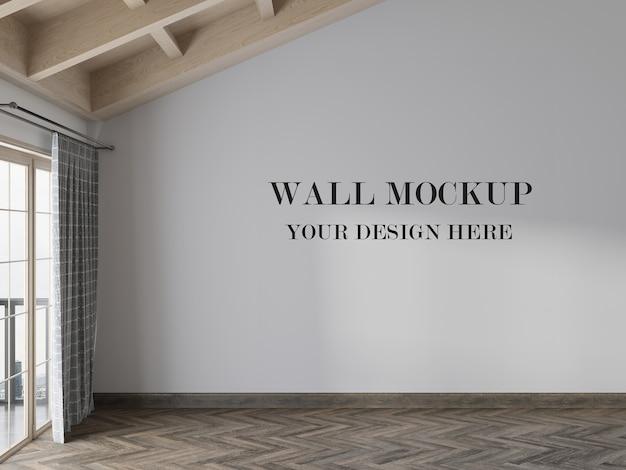 Красивый макет стены пустой комнаты