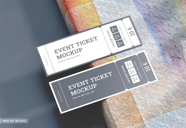 Beautiful event ticket mockup design