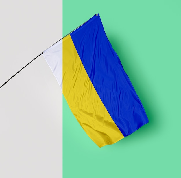 Beautiful flag concept mock-up