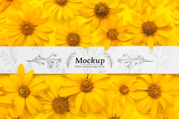 Beautiful floral concept mock-up