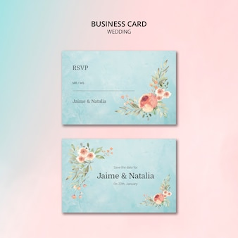 Beautiful floral wedding invitaion card