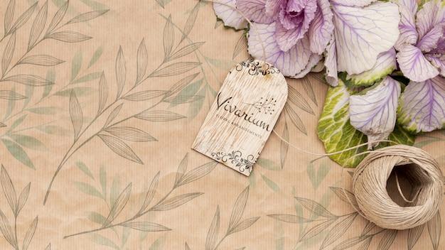 아름 다운 꽃 개념 모형 무료 PSD 파일