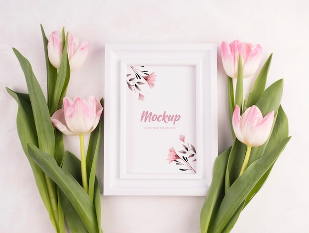 Beautiful flower concept mock-up