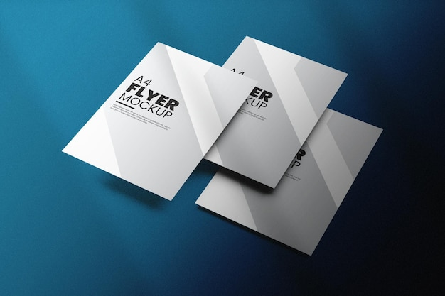 Beautiful flyer mockup design isolated