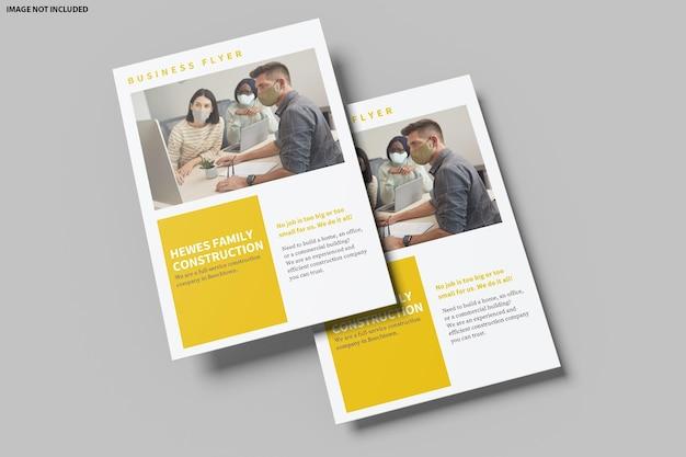 Beautiful flyer mockup design rendering