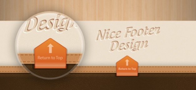 Beautiful footen design psd template