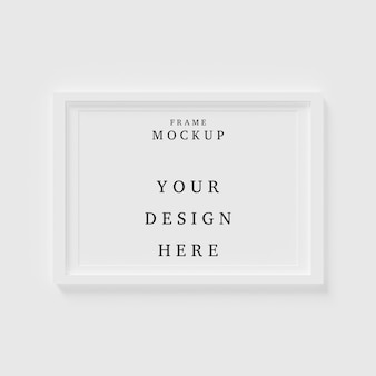 Beautiful frame concept mockup in empty room