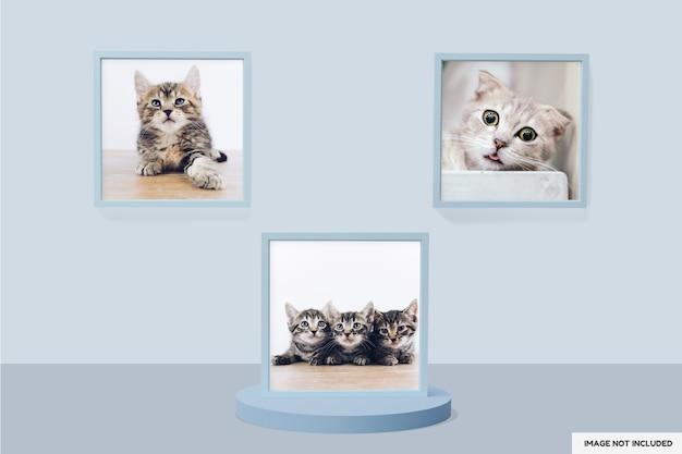 Красивая рамка фото макет дизайна