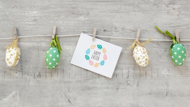 Beautiful happy easter concept Free Psd