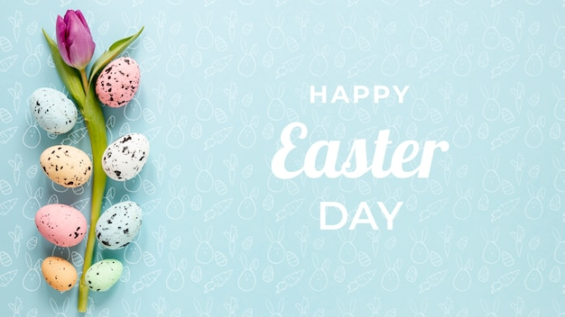 Beautiful happy easter concept