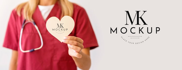 Макет концепции красивого сердца