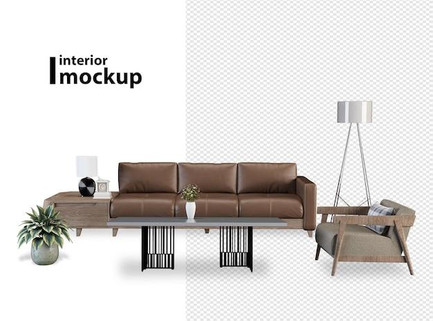 Beautiful interior design in 3d rendering
