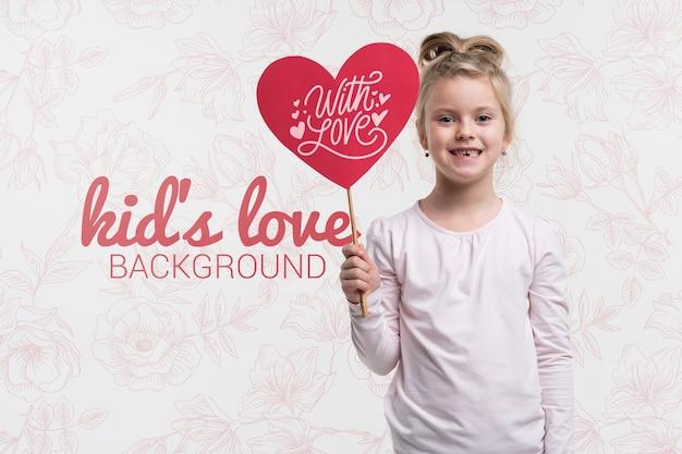 美しい子供の愛の概念