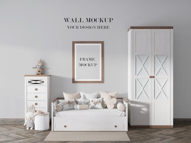 Красивый макет стены и рамки для детской комнаты