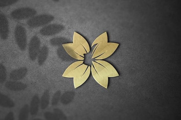Красивый макет логотипа на стене дизайн