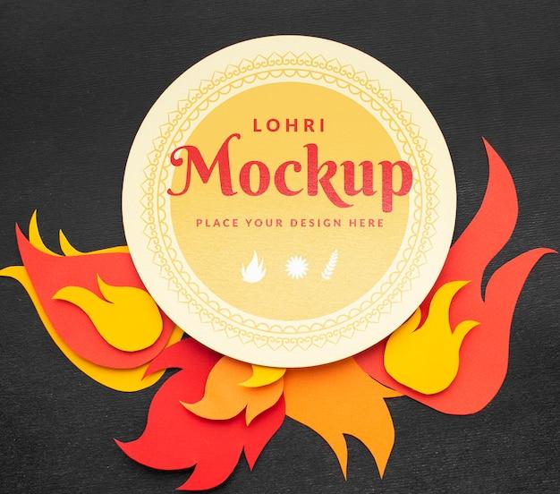 Красивый макет концепции lohri