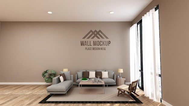 Красивый роскошный офисный холл, зал ожидания, макет стены