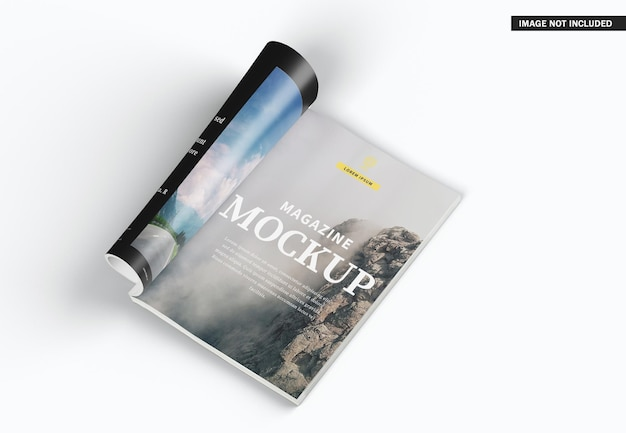 美しい雑誌の表紙のモックアップデザイン
