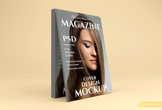 Beautiful magazine mockup in 3d rendering