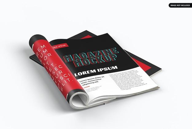 고립 된 아름 다운 잡지 모형 디자인