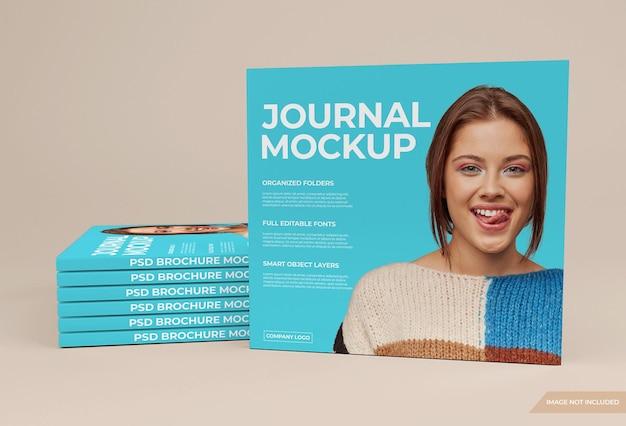 3dレンダリングで美しい雑誌のモックアップ