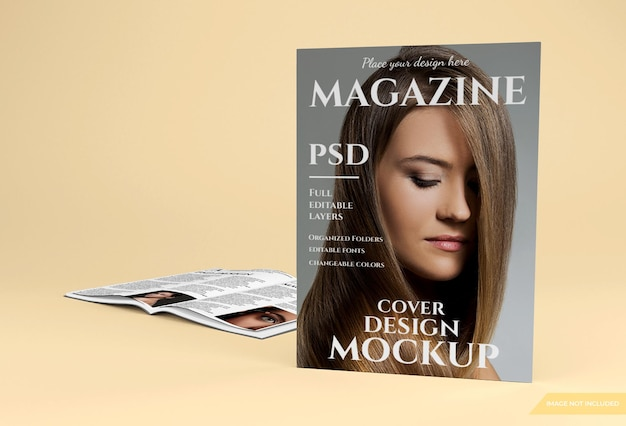 3d 렌더링의 아름다운 잡지 모형