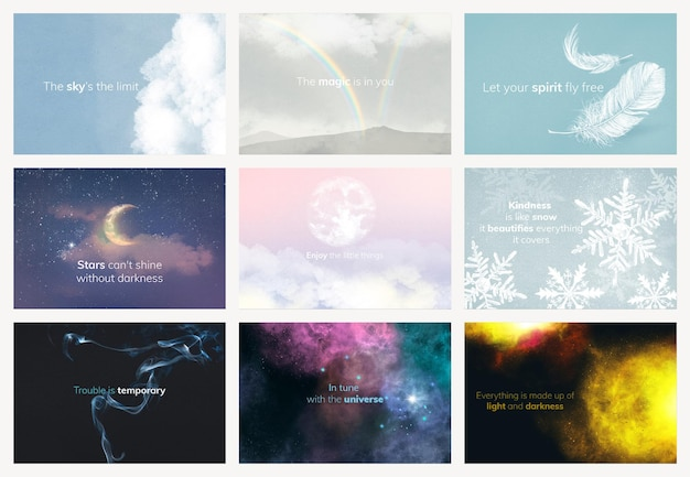 Beautiful nature banner template psd with editable text collection